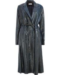 Litkovskaya - Long Drawstring Leather Coat - Lyst