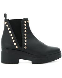 Albano - Studded Chunky Ankle Boots - Lyst