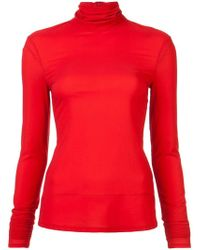 Sally Lapointe - Roll Neck Top - Lyst