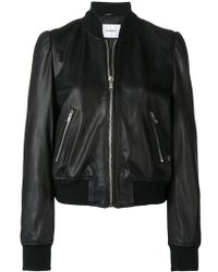 Dondup - Leather Bomber Jacket - Lyst