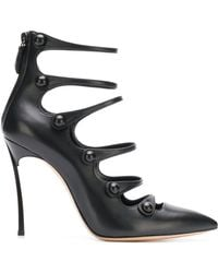 Casadei - Pointed Strappy Court Shoes - Lyst
