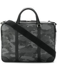 Montblanc - Camouflage Print Laptop Bag - Lyst