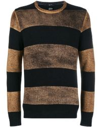Avant Toi - Overdyed Striped Sweater - Lyst