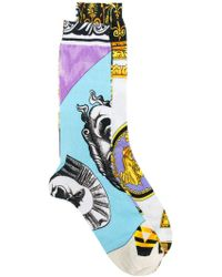 Versace | Pack Of 2 Print Socks | Lyst