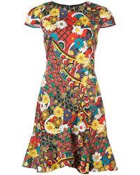 Alice + Olivia - Kirby Floral Print Dress - Lyst