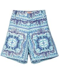 Le Sirenuse - Printed Shorts - Lyst