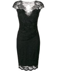 Olvi ́S - Lace-embroidered Fitted Dress - Lyst