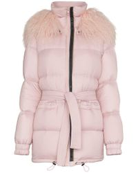 Mr & Mrs Italy - Mongolian Fur Collar Feather Down Puffer Coat - Lyst