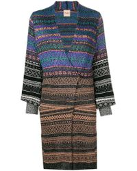 Nude - Knitted Wrap Dress - Lyst