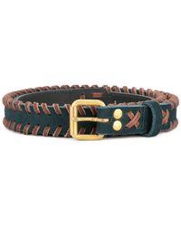 Kolor - Contrast Braided Details Belt - Lyst