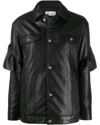 RED Valentino ラッフルトリム ジャケット - ブラック