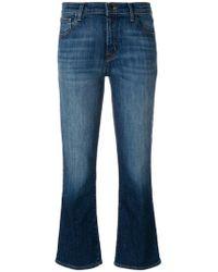 J Brand - Kick Flare Faded Jeans - Lyst