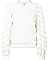 Ganni - 'Hawley' Sweatshirt mit Puffärmeln - Lyst