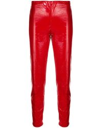 FEDERICA TOSI - Vinyl Skinny Trousers - Lyst