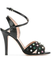RED Valentino | Jewel Embellished Sandals | Lyst