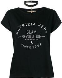 Patrizia Pepe - Logo Print T-shirt - Lyst