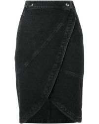 Givenchy - Midi Denim Skirt - Lyst