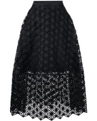 Paskal - Laser Cut Full Skirt - Lyst
