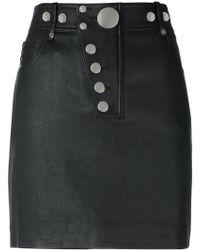 Alexander Wang - Multi Snap Mini Skirt - Lyst