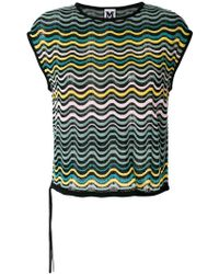 M Missoni - Embroidered Sleeveless Top - Lyst