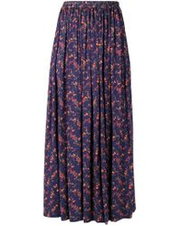 Vivienne Westwood Anglomania - Magda Floral Print Skirt - Lyst