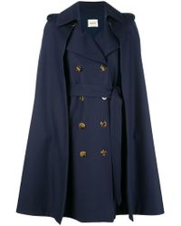 Khaite - Cape Double-breasted Coat - Lyst
