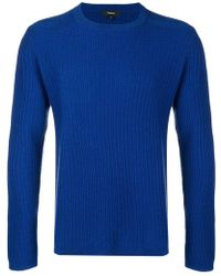 Theory - Ribbed Crew Neck Sweater - Lyst