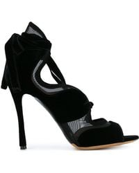 Tabitha Simmons - Black Freya 120 Suede Lace Up Sandals - Lyst