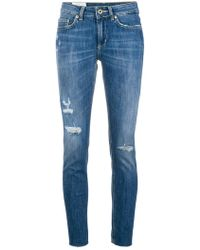 Dondup - Ripped Detail Jeans - Lyst