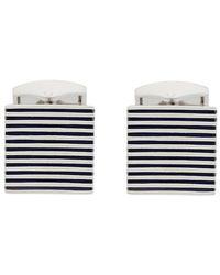 Tateossian - Striped Square Cufflinks - Lyst