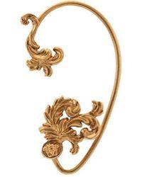 Versace - Single Tribute Gold Ear Cuff - Lyst