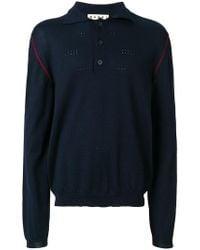 Marni - Contrast Edge Polo Shirt - Lyst
