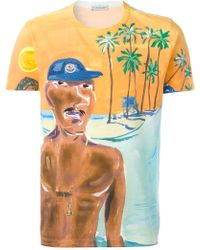 Moncler - Painted Beach Scene T-shirt - Lyst