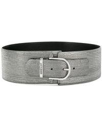 Just Cavalli - Textured Wide Belt - Lyst