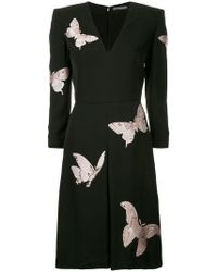 Alexander McQueen - Butterfly Print Midi Dress - Lyst