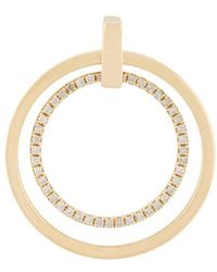 Asherali Knopfer - Gold And Diamond Giulia Double Hoop Earring - Lyst