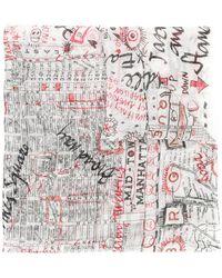 Faliero Sarti - 'Map of New York' Schal - Lyst