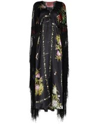 By Walid - Silk Floral Fringed Dress - Lyst