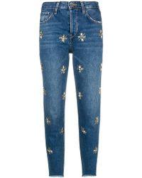 Liu Jo - Embellished Cropped Jeans - Lyst