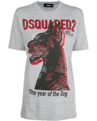 DSquared² - Logo Patch T-shirt - Lyst