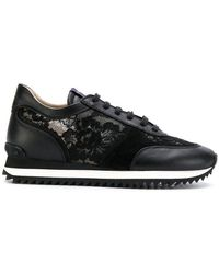 Le Silla - Lace Embellished Trainers - Lyst