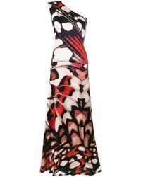 Alexander McQueen - Butterfly Print Long Dress - Lyst