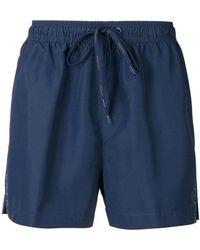 CALVIN KLEIN 205W39NYC - Logo Side Panel Swim Shorts - Lyst