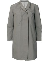 Transit - Press Stud Lapel Raincoat - Lyst