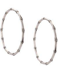 John Hardy - Bamboo Large Hoop Earrings - Lyst