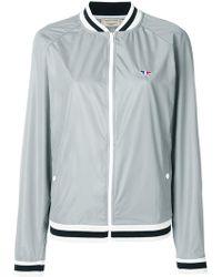 Maison Kitsuné - Raglan Sleeve Baseball Jacket - Lyst