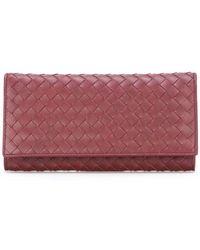 Bottega Veneta - Intrecciato Weave Continental Wallet - Lyst