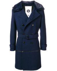 Closed - Faux Fur-trim Coat - Lyst