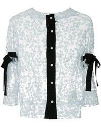 MIYAO - Lace Band Collar Shirt - Lyst