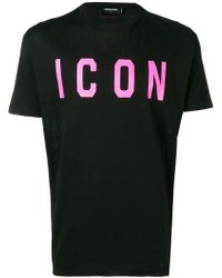 "DSquared² - T-Shirt mit ""Icon""-Print - Lyst"